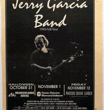Madison Square Garden, New York, NY 11/12/93 poster
