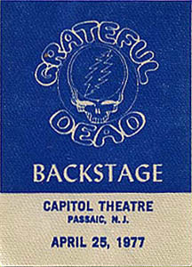 Grateful Dead 1977 04 25 Capitol Theater Passaic Nj