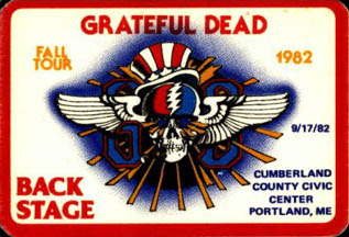 Grateful Dead 1982 09 17 Cumberland County Civic Center