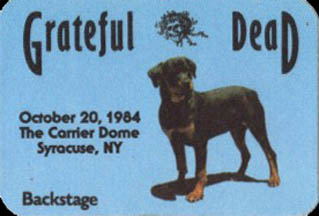 Grateful Dead 1984 10 20 Carrier Dome Syracuse U