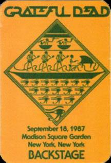 Grateful Dead 1987 09 18 Madison Square Garden New York Ny Usa Jerry Garcia