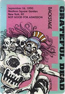 Grateful Dead 1990 09 16 Madison Square Garden New York Ny Usa Jerry Garcia