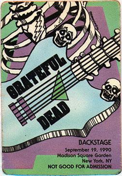 Grateful Dead 1990 09 19 Madison Square Garden New York Ny Usa Jerry Garcia