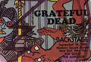 Grateful Dead 1991 09 18 Madison Square Garden New York Ny Usa Jerry Garcia