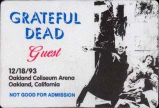 grateful dead 1993 12 18 oakland alameda county coliseum oakland ca usa jerry garcia. Black Bedroom Furniture Sets. Home Design Ideas