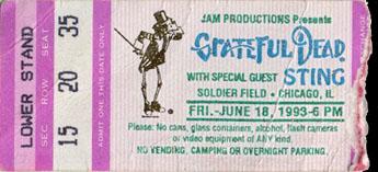 grateful dead 1993 06 18 soldier field chicago il usa jerry garcia. Black Bedroom Furniture Sets. Home Design Ideas